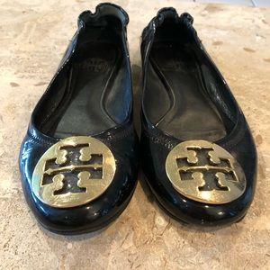 Tory Burch Reva Gold Flats Size 6.5